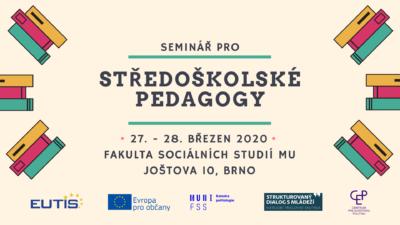 Seminář pro středoškolské pedagogy – již na konci března vBrně